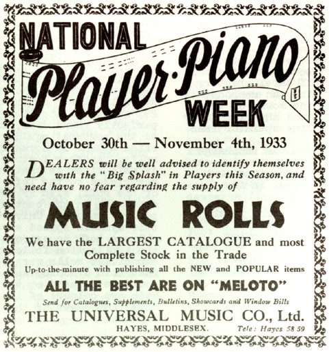 National Player Piano Week
